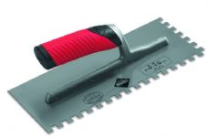 Rubi 72907 Square Notched Flex Grip Trowel 6mm x 6mm, Adhesive Trowel